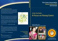 A Focus on Young Carers - Carers Association