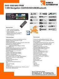 DVD 1030 NAV PKW 1 DIN Navigation CD/DVD/SD/USB/Bluetooth