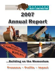 2007 Annual Report - Manitoba Heavy Construction Association