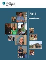 2011 Annual Report - United Memorial Medical Center