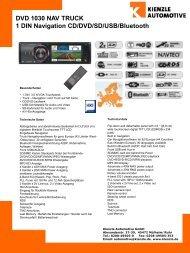 DVD 1030 NAV TRUCK 1 DIN Navigation CD/DVD/SD/USB/Bluetooth