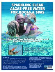 sparkling clear algae-free water for pools & spas ... - Triangular Wave