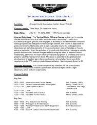 TFO: Tactical Flight Officer Course - Airborne Law Enforcement ...
