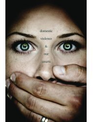 domestic violence & our courts