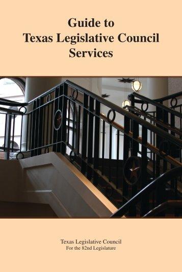 Guide to Texas Legislative Council Services