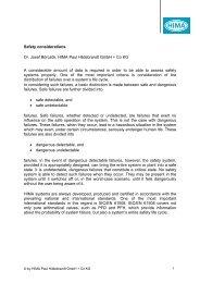 Safety considerations Dr. Josef Börcsök, HIMA Paul Hildebrandt ...