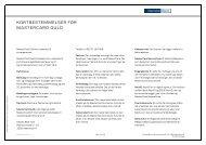 KORTBESTEMMELSER FOR MASTERCARD GULD - Danske Bank