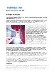 081213 BusinessTimes - Superbude Hotel * Hostel * Hamburg