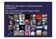 FREEFLOW: New tools for advanced network management ... - UTMC