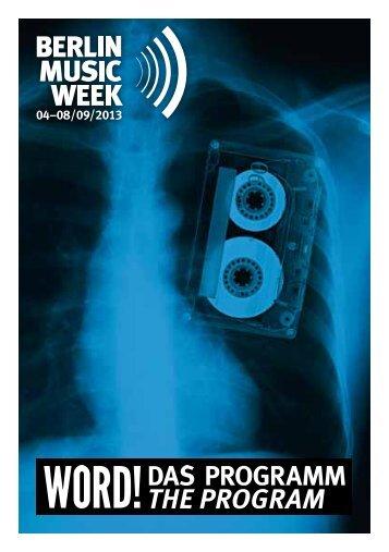 20 jahre - Berlin Music Week - Word!