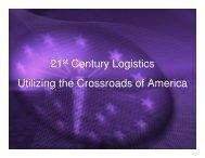 Utilizing the Crossroads of America - Indiana Logistics