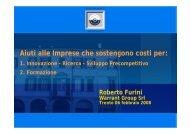 Aiuti alle Imprese che sostengono costi per: - Confindustria Trento
