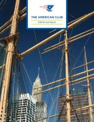 2008 American Club Annual Report - The American Club
