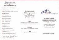 Berufsorientierung - Gesamtschule Gleiberger Land