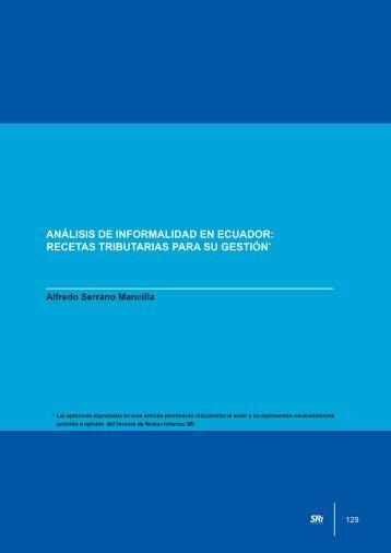 Análisis de la informalidad en el Ecuador - Centro de Estudios ...