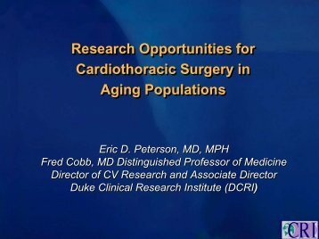 Research Opportunities for Cardiothoracic Surgery in Aging ...
