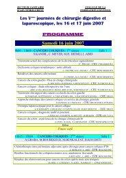 Vme journes laparoscopique 16 et 17 juin 2007