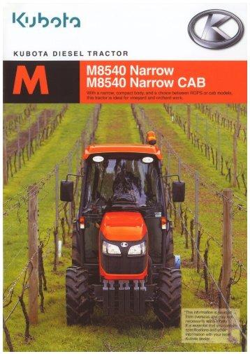 Kubota M8540 Narrow Cab Brochure - LiveUpdater