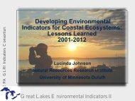 Developing Environmental Indicators for Coastal Ecosystems ...