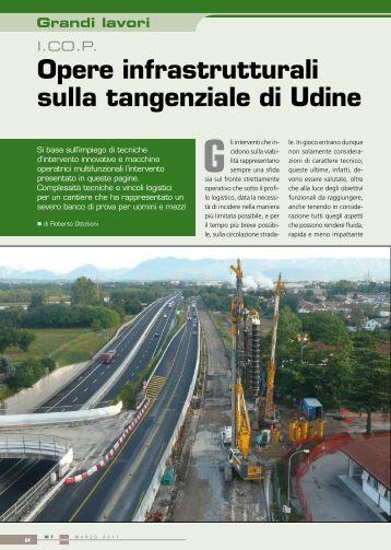 Grandi Lavori. I.CO.P. Opere Infrastrutturali sulla tangenziale di Udine