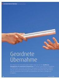 Change Management - Geordnete Übernahme - Dr. Kraus & Partner
