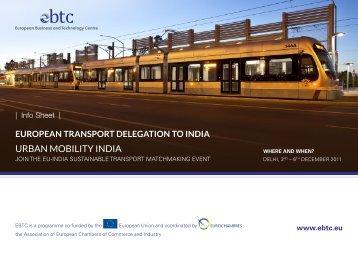Urban Mobility india - EBTC
