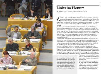 Links im Plenum - Die Linke NRW
