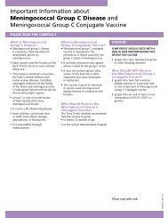 Important Information about Meningococcal Group C Disease and ...