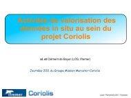 Activités de valorisation des produits Coriolis - Mercator Océan