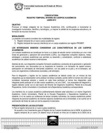 CONVOCATORIA REGISTRO TEMPORAL INTERNO DE CUERPOS ...