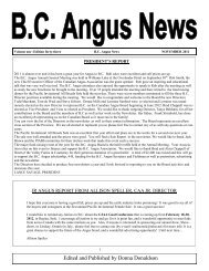 Edited and Published by Donna Donaldson - BC Angus Association