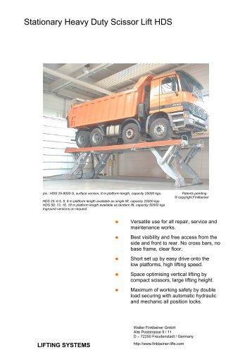 Stationary Heavy Duty Scissor Lift HDS