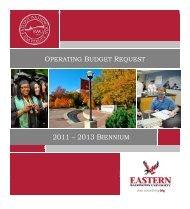 Operating Budget Request - Eastern Washington University
