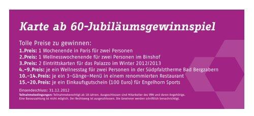Karte Ab 60 Jubilaumsgewinnspiel Vrn Verkehrsverbund Rhein