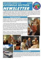 Newsletter Jan 2012 - Alfa Romeo Owners Club