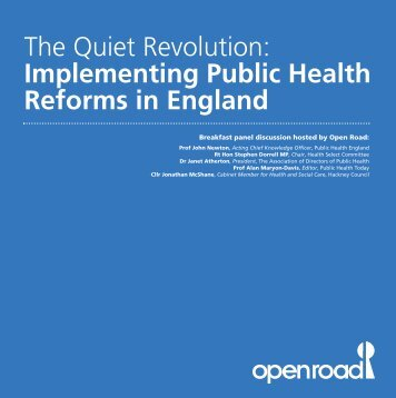 The Quiet Revolution: Implementing Public Health ... - Open Road