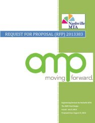 REQUEST FOR PROPOSAL (RFP) 2013383 - Nashville MTA