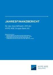 jahresfinanzbericht 2011 - HYPO NOE Gruppe