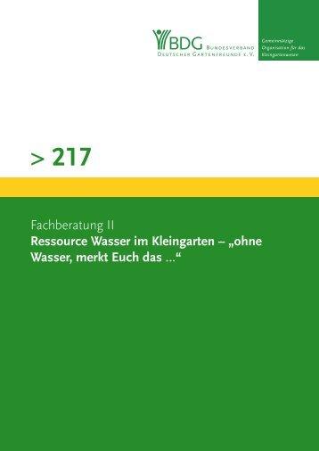 217 - Bundesverband Deutscher Gartenfreunde e.V.
