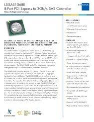 LSISAS1068E 8-Port PCI Express to 3Gb/s SAS ... - Computerworld