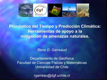 Pronóstico del Tiempo y Predicción Climática ... - BVSDE