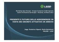 presente e futuro delle agroenergie in vista dei decreti ... - LEAP