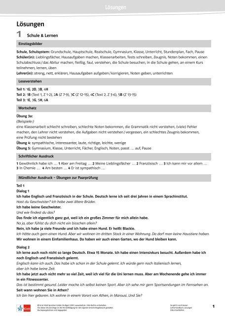 So Gehts Noch Besser Lösungen Pdf Datei 208 Ernst Klett Verlag