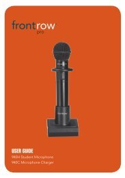 FrontRow Pro 940H User guide - Centrum Sound