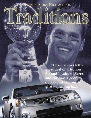 Traditions Winter Issue 04-05.indd - Junipero Serra High School