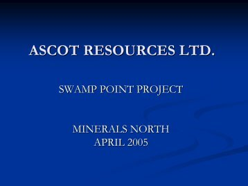 Swamp Point Project - Minerals North