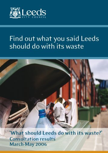 Results of Survey - Leeds City Council Consultations