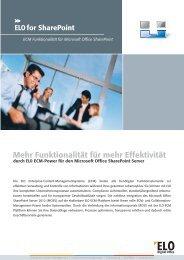 ELO for SharePoint - ELO Digital Office GmbH
