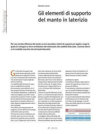 scarica l'articolo completo in pdf - Coperture in Laterizio
