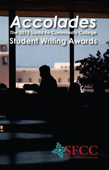 2013 Student Writing Awards Booklet - Santa Fe Community College